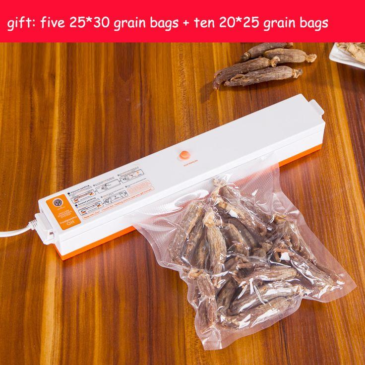 Pengiriman cepat 220 V 110 V Otomatis Listrik Makanan Vacuum Sealer Rumah Tangga Portabel Vacuum Packing Mesin Dengan Gratis Hadiah 15 bags