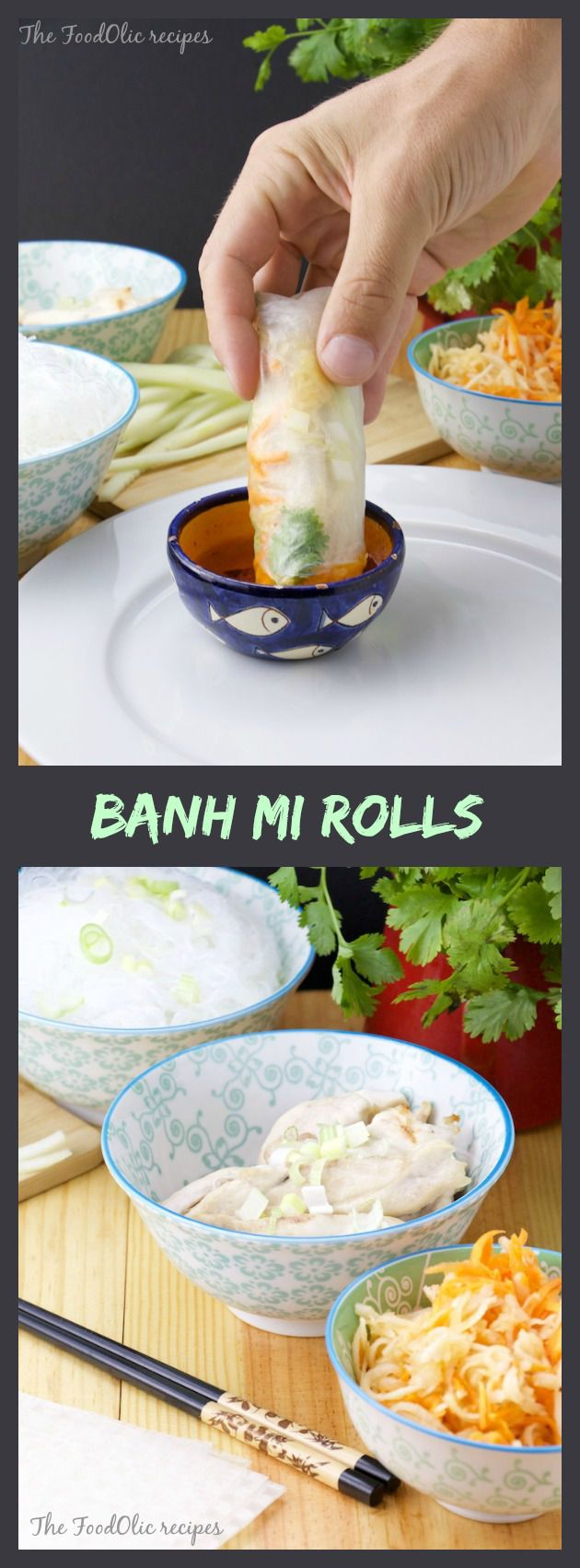 Banh Mi Rolls Is A Fresh Spring Rolls But With All The Goodies From The Famous Vietnamese Sandwich Banh Mi As Many Knows The Banh Mi Sandwich Check My
