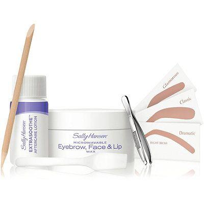 Sally Hansen Microwavable Eyebrow, Face & Lip Wax Kit