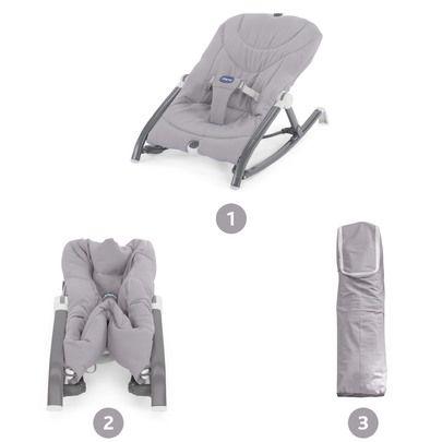 Transat Pocket Relax grey Grey de Chicco, Transats : Aubert