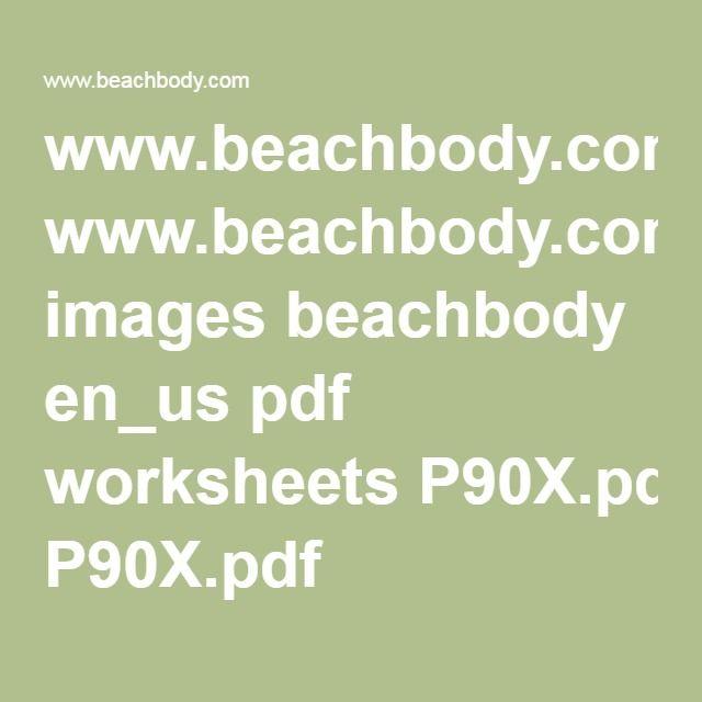 Beachbody worksheets