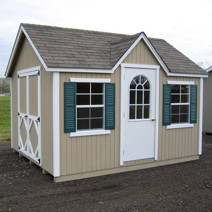 little cottage 12 x 10 ft classic wood cottage panelized storage shed from hayneedlecom cabin fever pinterest gardens cottages and storage