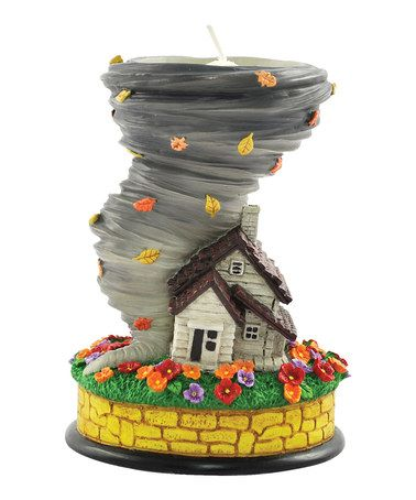 Wizard of Oz: Dorothy's House & Tornado Candleholder!
