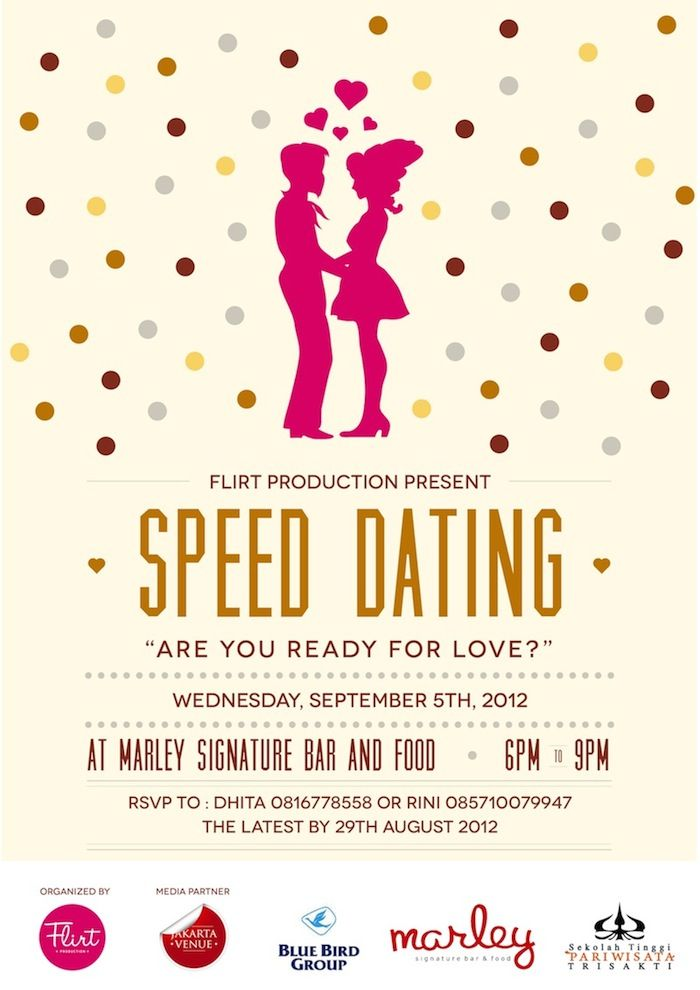 advertise speed dating event Advertising: speed-dating for business updated friday firms advertise their products and services and if they are not deemed useful to consumers.