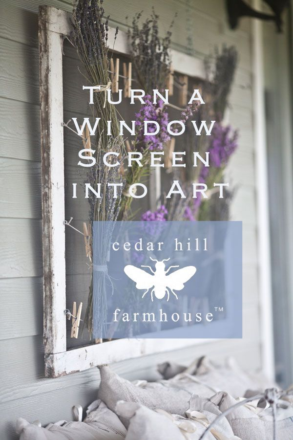Old Window Screen Decorating Ideas - Easy Craft Ideas