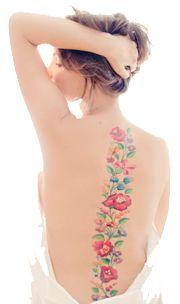Tetoválás  magyar népi motívumok