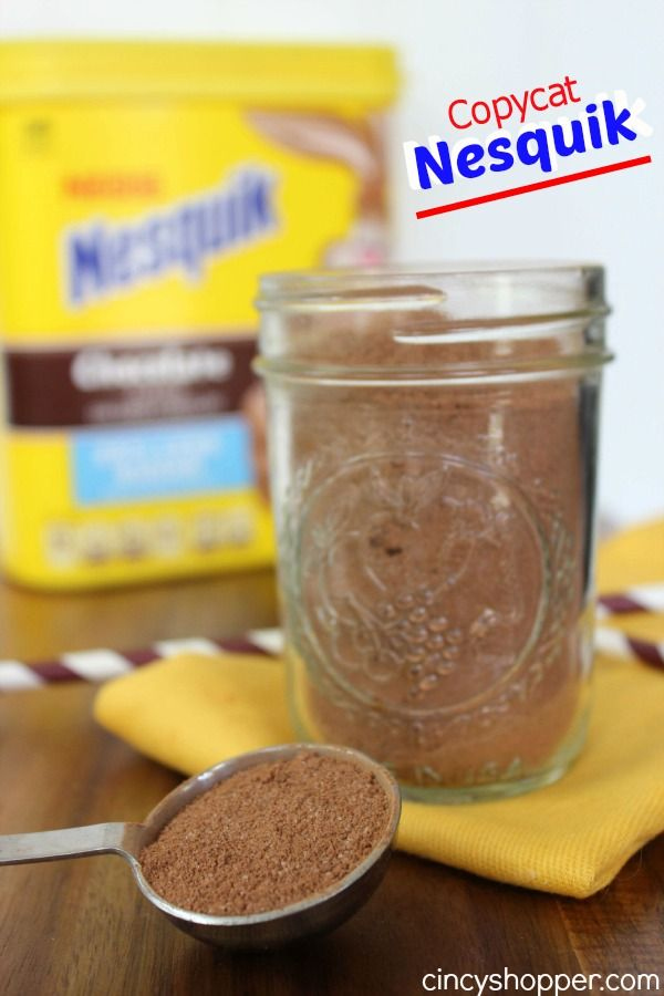 Copycat Nesquik Recipe  Make your own Nesquik Chocolate Milk at home with ingredients from your kitchen cabinet