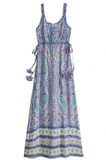 Lubmin Printed Silk Maxi Dress   | Calypso St. Barth