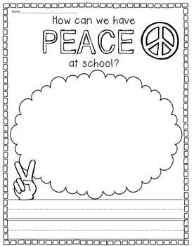 Back to school unit on school rules, respect, peace, & being a good friend! $