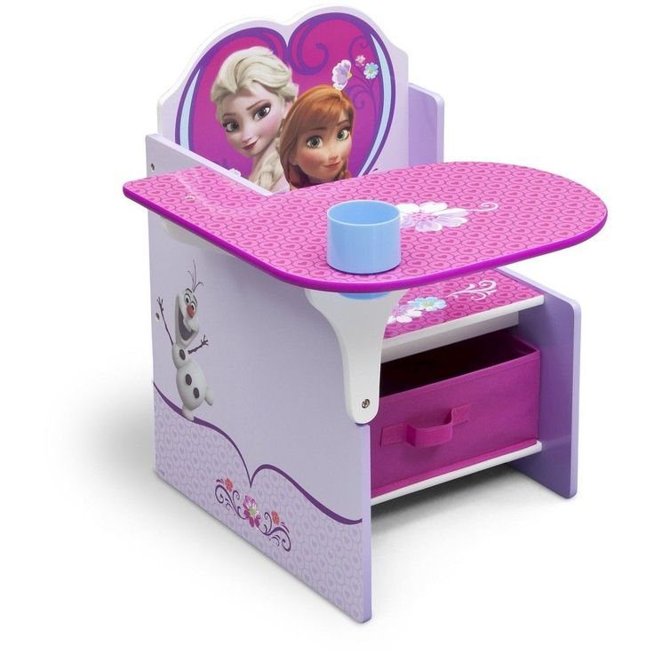 Disney Frozen Chair Desk with Storage Bin, Pink