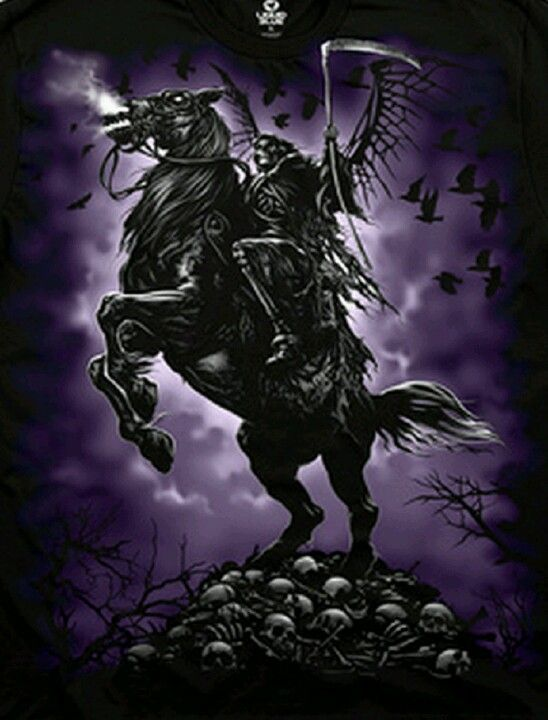 Grim reaper on the horse of death