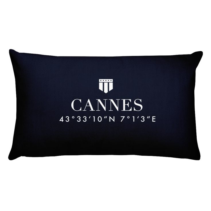 Cannes Côte d'Azur Pillow with Coordinates