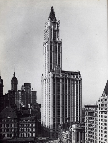 The Woolworth Building in all it's grand architectural splendor.
