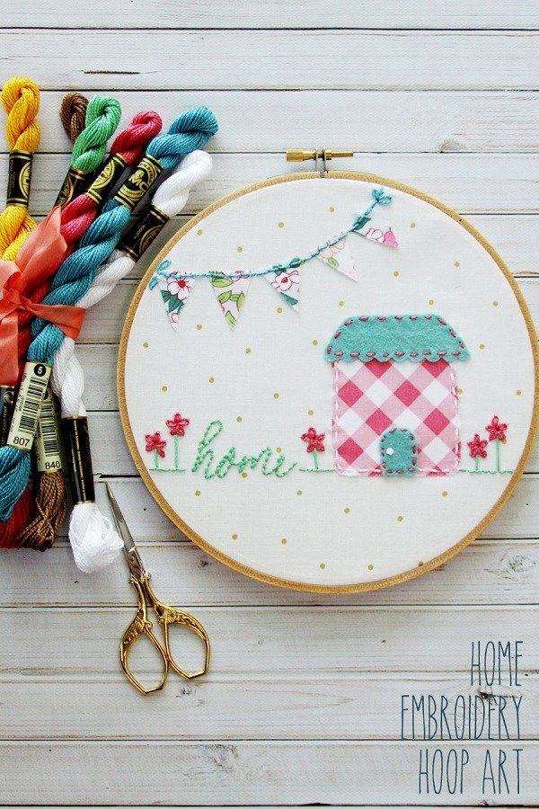 Tutorial and pattern: Home embroidery hoop art – Sewing
