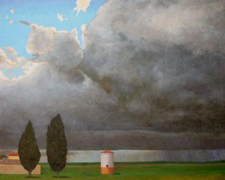 Fernando Puente. Óleo sobre lienzo. Persistencia de la lluvia 4.