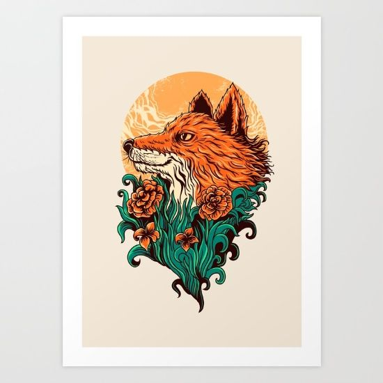 fox Art Print by Itssummer85 - $19.76
