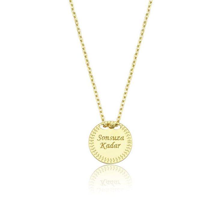 """Altın """"Sonsuza Kadar"""" Kolye #altınbaşlife #kolye #altın #takı #tasarım #hediye #gift"""