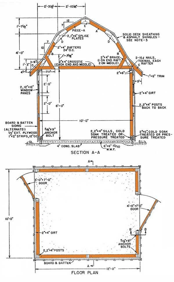 13 Unique 10 12 Gambrel Shed Plans Shed Plans Storage Shed Plans Building A Shed