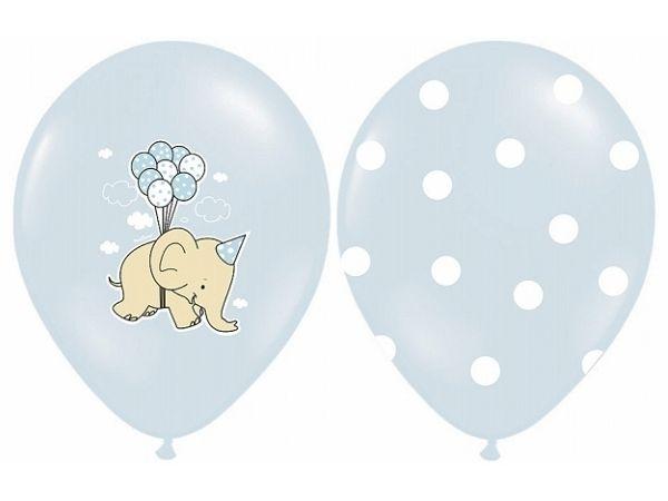 Ballonger Baby Elefanter lys blå, 5 stk. - Congratulations