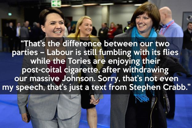 When Scottish Conservative leader Ruth Davidson took the piss out of every other…