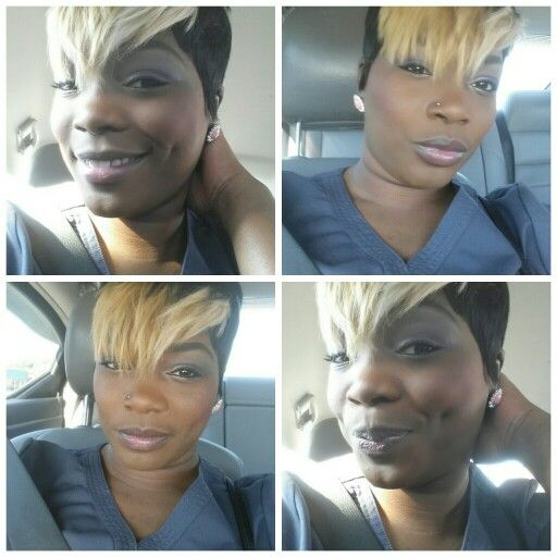 Quick Weave 27 Piece With Blonde Pixie Bangs Short Cuts