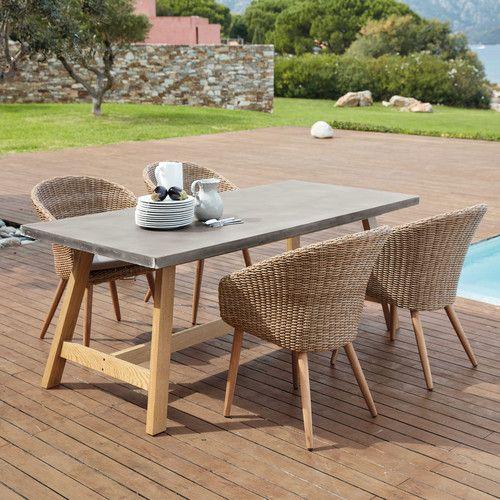 Salon de jardin en beton imitation bois votre inspiration la maison - Salon de jardin en beton ...