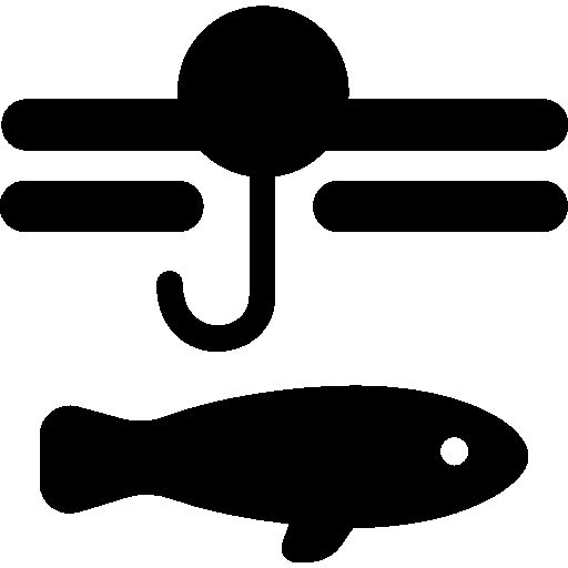 Fish and hook I Free Icon