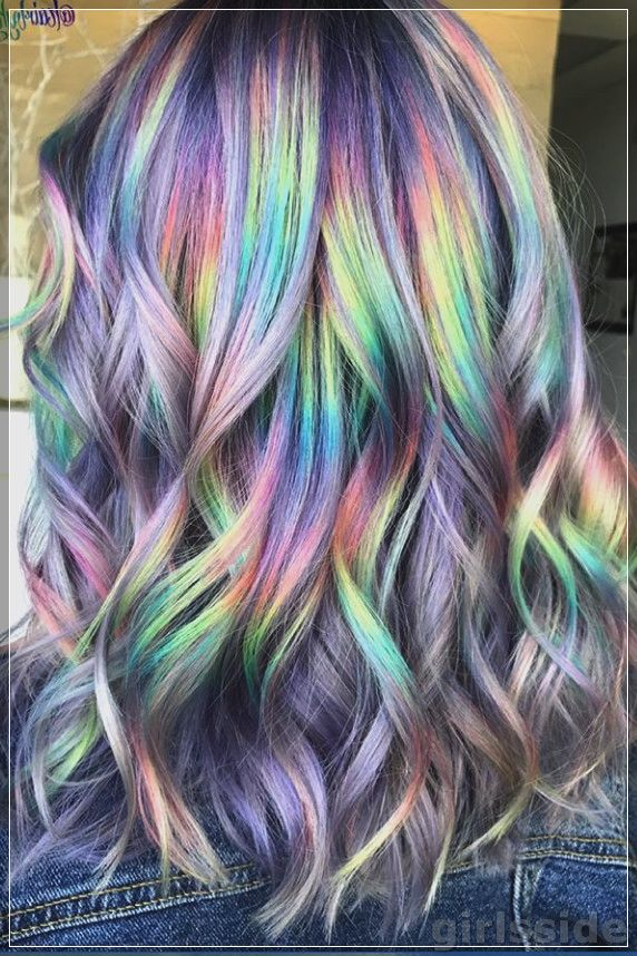 51 Amazing Colorful Hairstyles In 2020 Holographic Hair Rainbow Hair Color Hair Styles