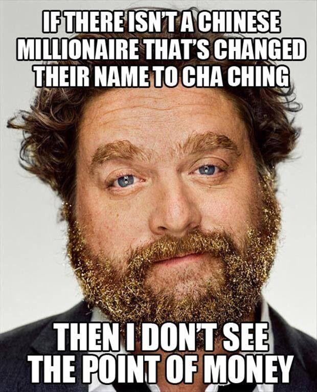 Zach Galifianakis meme millionaire