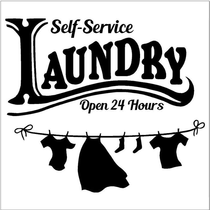 Self service LAUNDRY Open 24 hours  / Laundry Room Decor / Vinyl Decal Wall Art / Funny Utility Room /  Gift Ideas for Mom, Wife. by RattleSnakeDecals on Etsy