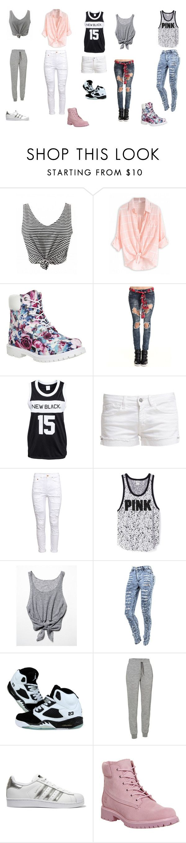 """ellean"" by fiction-1d-fiction on Polyvore featuring mode, Timberland, Almost Famous, New Black, Le Temps Des Cerises, H&M, Free People, Icebreaker et adidas Originals"