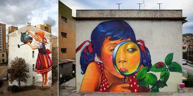 """Polonya merkezli sokak sanatçısı Natalia Rak sokakları ve duvarları yaptığı duvar boyama çalışmaları ile büyülüyor. """"Kadın elinin sokağa bi değmesi lazımmış"""" söylemini doğrulayan ilham verici eserleri ile kadın ve çocuğun iç dünyasına derinlemesine inen Natalia Rak, LodzGüzel Sanatlar Akademisi mezunu. Grafik tasarımı ve mekansal posterler üzerine çalışan sanatçı çizim ve çizgi roman üzerine de eserler veriyor. Özellikle çocukların saf dünyasını ve içerideki sınırsız sevgiyi doğaya…"""