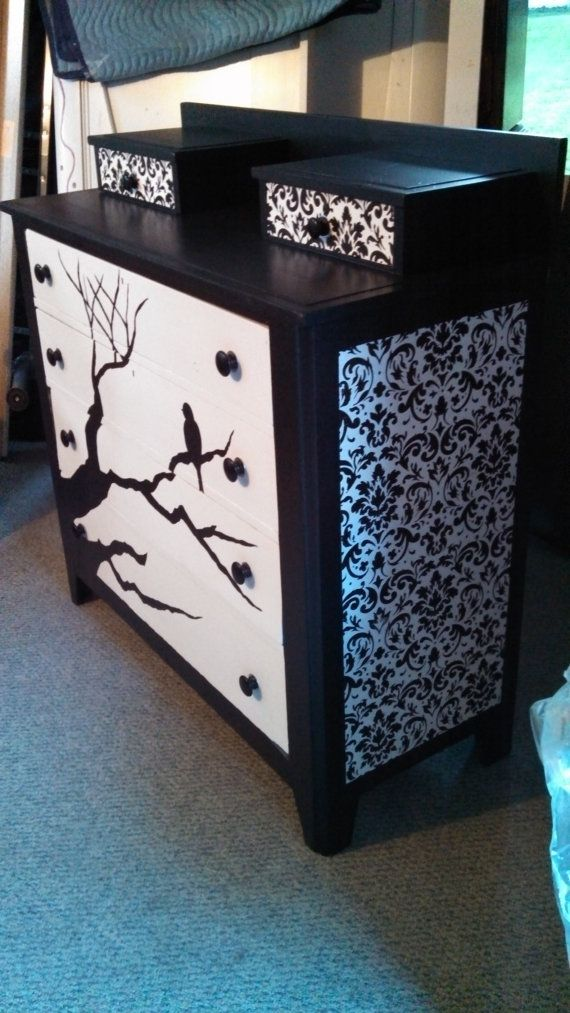 Hand Painted / Decoupaged Hankie Dresser by soverikeri on Etsy, $249.00 http://www.etsy.com/listing/153397444/hand-painted-decoupaged-hankie-dresser?ref=shop_home_active