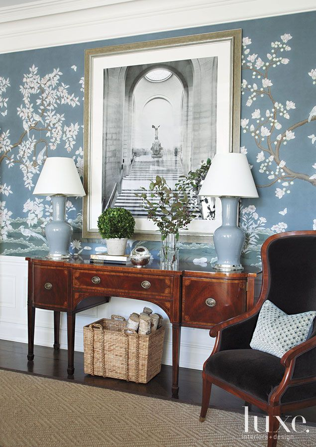 25 best ideas about dining room wallpaper on pinterest for Georgian dining room ideas