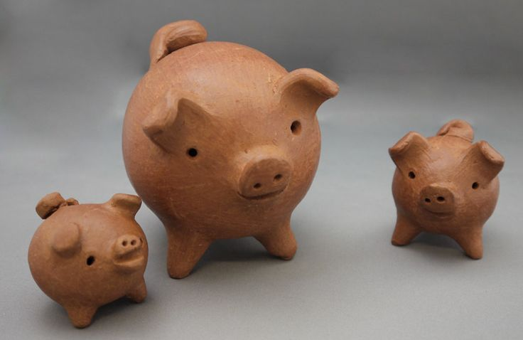 """The MOA Shop: """"3-legged Clay Pig Good Luck Charms"""" from Chile."""