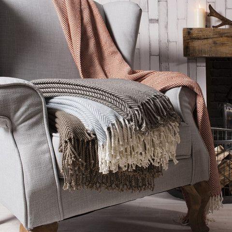Herringbone Twill Throw #meyerandmarsh #throw #blanket