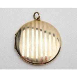 Edwardian Gold Locket   9KT Gold Engraved Locket
