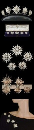 Diamond stars for the hair, belonging to Sisi Empress Elisabeth of Austria  Le stelle di diamante (per capelli) appartenute a Sissi