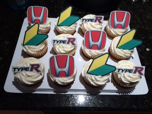 Honda Jdm And Type R Birthday Cupcakes Edible Bliss