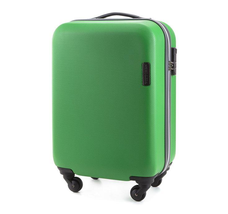 Walizki podróżne - Walizka na kółkach, kabinowa :: Sklep internetowy WITTCHEN - kolor zielony