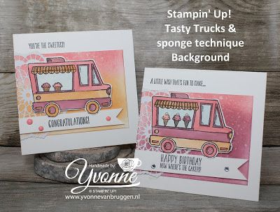 Yvonne is Stampin' & Scrapping: Stampin' Up! SAB Tasty Trucks #stampinup #yvonnevanbruggen