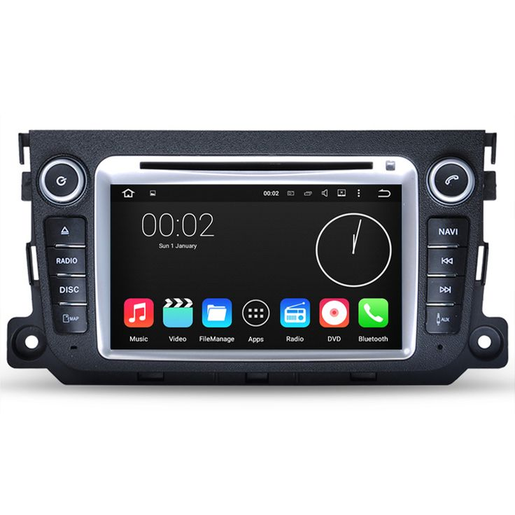 Free Shipping HD 1024*600 Quad Core Android 5.1.1 Car DVD Player For Mercedes Benz Smart 2011 2012 2013 2014 GPS Radio Stereo