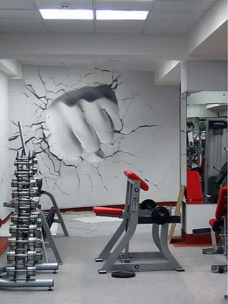 Wall Art For A Home Gym : Best ideas about gym design on basement