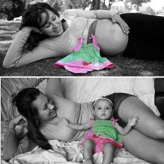 10 ingeniosas ideas para hacerte fotos embarazada y con tu bebé