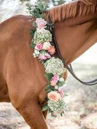 Image result for beautiful horses with flowers