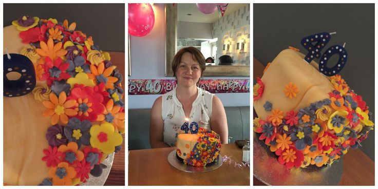 Dorothy's 40th Birthday Cake. I wanted to create a happy cake for her and she loved it. Flavour was lemon with a lemon butter cream.