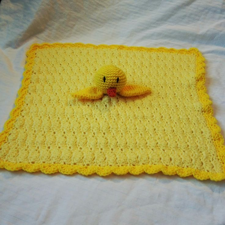 The Crocheting Mom: Duck Security Blanket Pattern