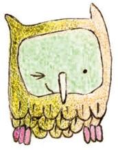 Knipoog uiltje...'Zus en ik illustraties'