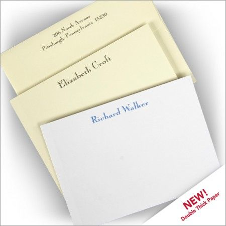 Diplomat Correspondence Cards - Double Thick Stock