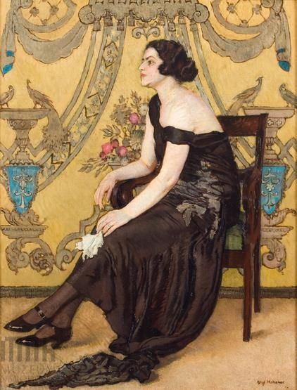 Józef Mehoffer - Róża Saronu - Portret Zofii Minderowej. Dom Józefa Mehoffera   Katalog MNK